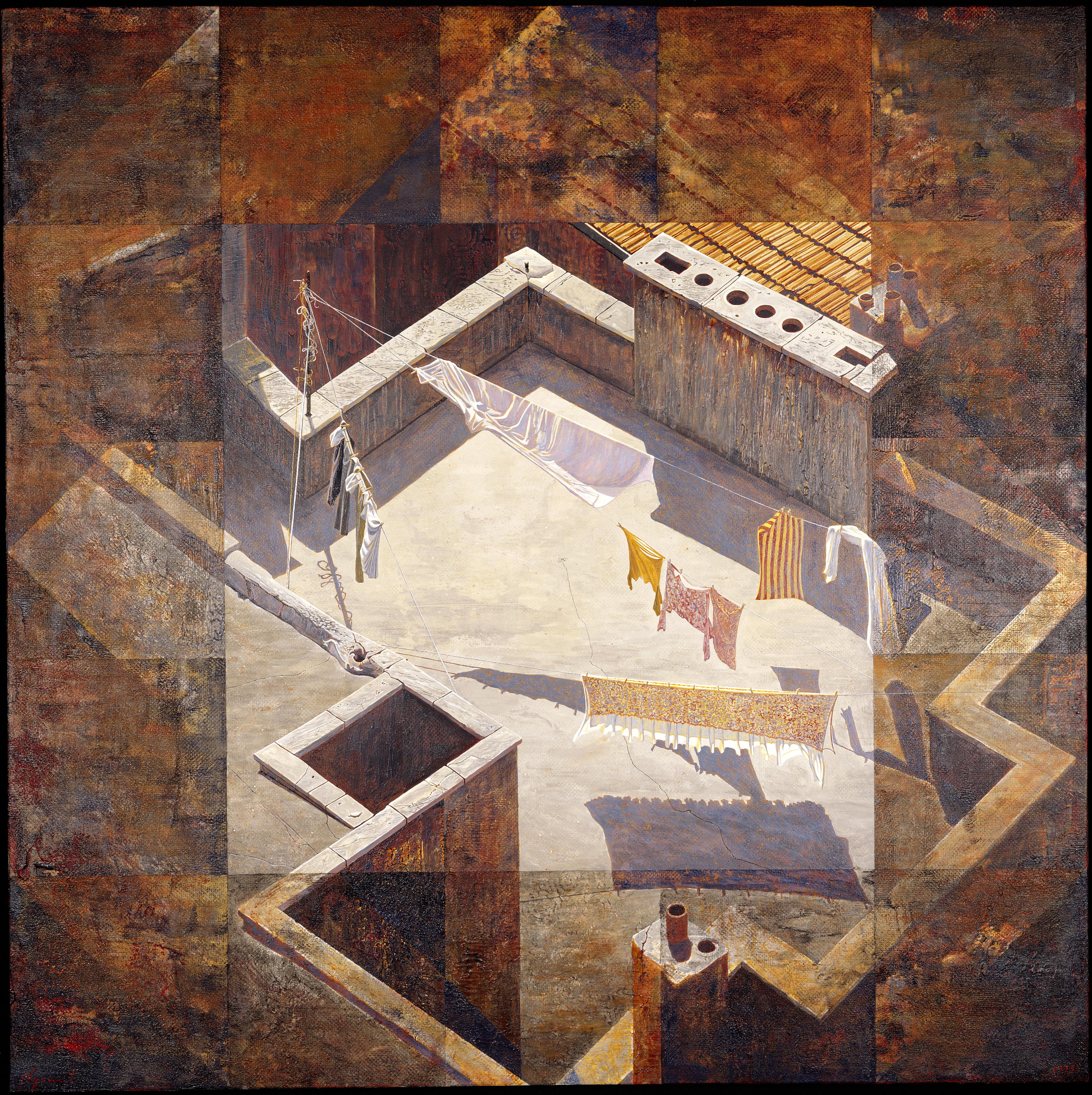 Højde, bredde, dybde og transcendens, 1999 (100×100 cm)